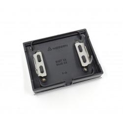 Tapa Salida de Cables + Pulsador Tirador Niessen Olas 8407 TT Titanio