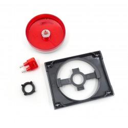 Tapa+Botón para Regulador Giratorio Niessen Olas 8460.2 TT Titanio
