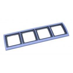 Marco 4 Elementos Horizontal Azul Cobalto 8474.1 AC Niessen Olas