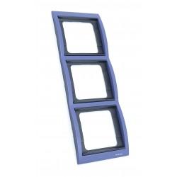 Marco 3 Elementos Vertical Azul Cobalto 8473 AC Niessen Olas