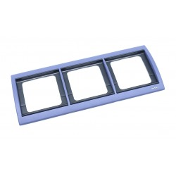 Marco 3 Elementos Horizontal Azul Cobalto 8473.1 AC Niessen Olas