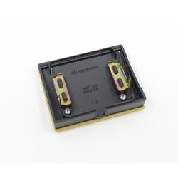 Tapa Salida de Cables + Pulsador Tirador Niessen Olas 8407 AA Amarillo Az.