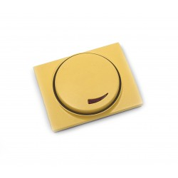 Tapa+Botón para Regulador Giratorio Niessen Olas 8460.2 AA Amarillo Az.