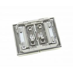Tecla para Doble Interruptor-Conmutador-Pulsador Niessen Olas 8411 ML