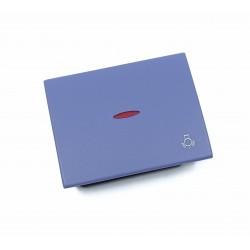 Tecla con Visor para Pulsador Luz Niessen Olas 8404.4 AC Azul Cobalto