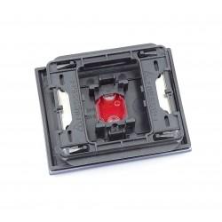 Tecla con Visor para Pulsador Timbre Niessen Olas 8404.3 AC Azul Cobalto