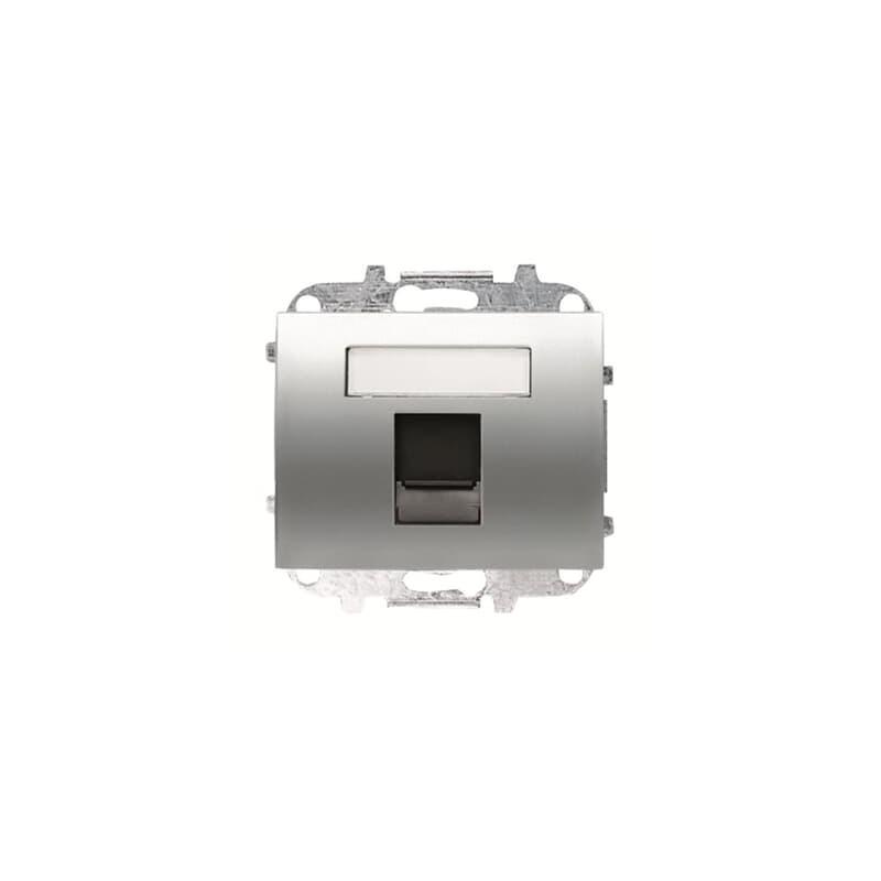 Tapa 1 soporte Conectores informáticos Titanio 8418.1 TT Niessen Olas