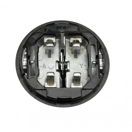 Tecla Doble Interruptor-Conmutador Cristal Negro 8611 CN