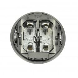 Tecla Doble Interruptor-Conmutador Cromo 8611 CR