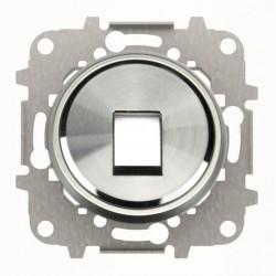 Tapa 1 Conector Cromo 8618.1 CR Niessen Skymoon