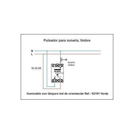 Pulsador con Símbolo de Timbre Ancho N2204 Zenit