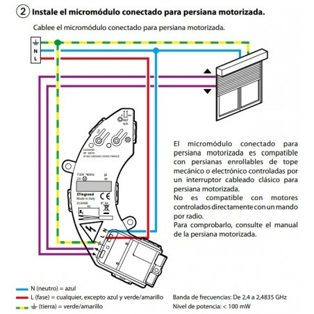 Micromódulo para Persianas Conectado Legrand 067697 Netatmo