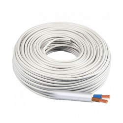 Manguera Eléctrica Blanca 2x1,5 Cable Flexible H05VV-F 500V