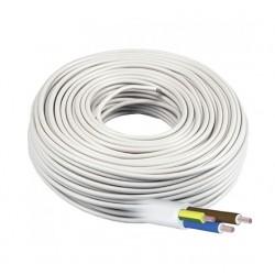 Manguera Eléctrica Blanca 3G1Cable Flexible  H05VV-F 500V