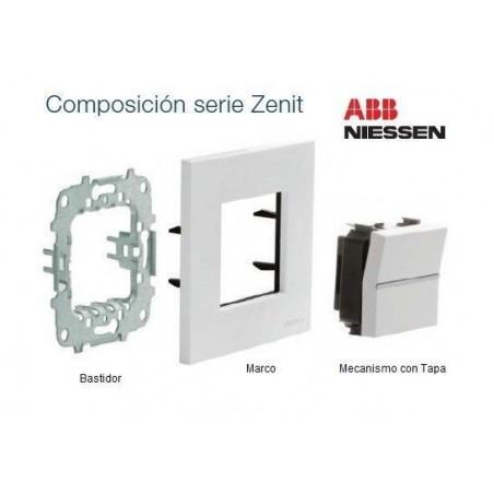 Tapa para Soportes Conectores RJ N2218.1 Módulo ancho Niessen Zenit
