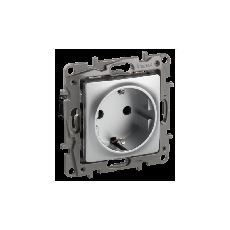 Base de Enchufe 2P+T Aluminio 665330 Legrand Niloé