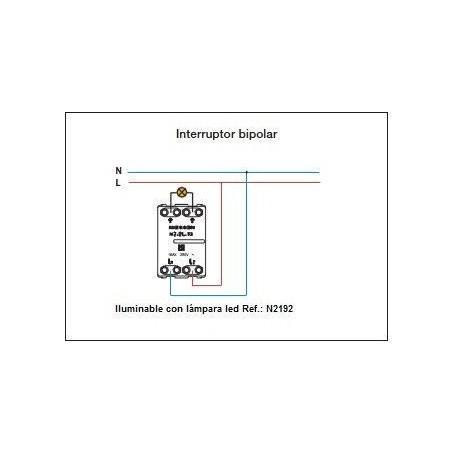 Interruptor Bipolar Módulo estrecho N2101.2 Niessen Zenit