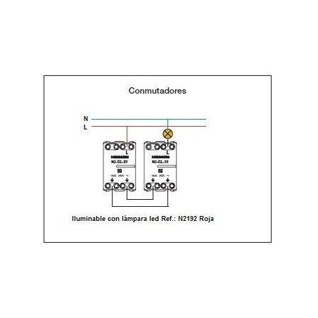 Conmutador Módulo estrecho N2102 Niessen Zenit