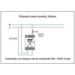Pulsador Símbolo De Timbre Estrecho N2104 Zenit
