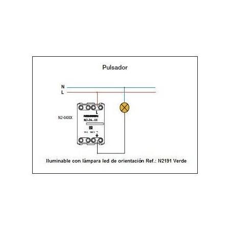 Pulsador Sin Grabar Estrecho N2104.7 Zenit