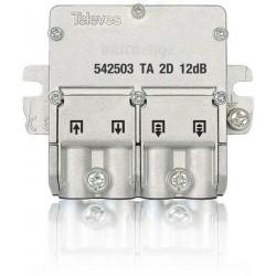 Derivador 1 Entrada 1 Salida + 2 Repartidores 12 dB Plata 1 542503