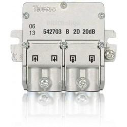 Derivador 1 Entrada 1 Salida + 2 Repartidores 21 dB Platas 4 .. 6 542703