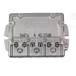 Derivador 1 Entrada 1 Salida + 4 Repartidores 25 dB Platas 7 .. 12 544702