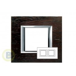 Placa 2 Ventanas Wengé HA4802/2LWE Axolute