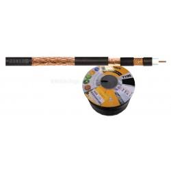 Cable de Antena Negro Coaxial Cobre Señales Digitales 214105