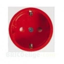 Enchufe Rojo Schuko 2 Polos + Tierra 16A. SCH/GR Quintela