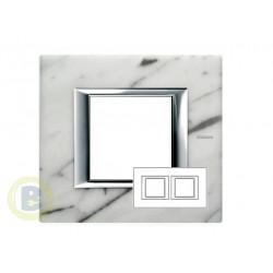 Placa 2 Ventanas Mármol de Carrara HA4802M2HRMC Axolute