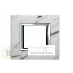 Placa 3 Ventanas Mármol de Carrara HA4802/3RMC  Axolute