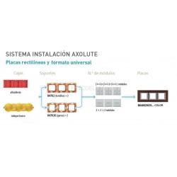 Placa 3 Ventanas Blanco BTicino Axolute HA4802M3HHD