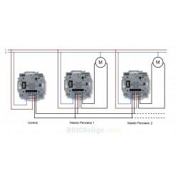 Interruptor para Centralización de Persianas 8130.3 Niessen Sky