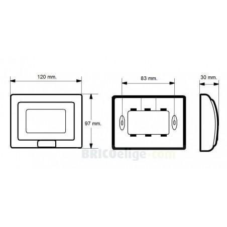 Tapa de 3 Módulos para Intemperie para Caja de Empotrar IP55 para Mecanismos Living-Light de Bticino