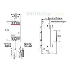 Contactor Bipolar ESB63-20 230V 2NA