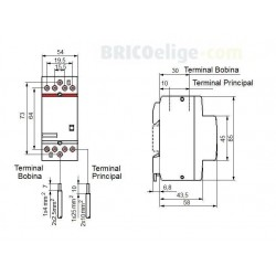 Contactor Tetrapolar ESB63-40 230V 4NA