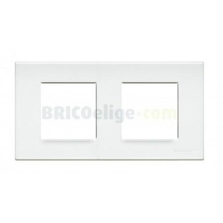 Placa Living Blanca 2+2 módulos N4802/2LB