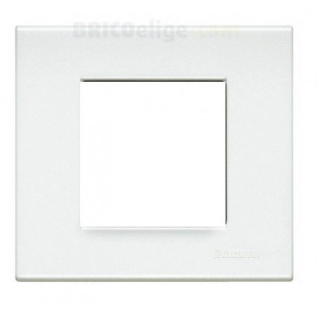 Placa Light Blanca 2 módulos N4802LB