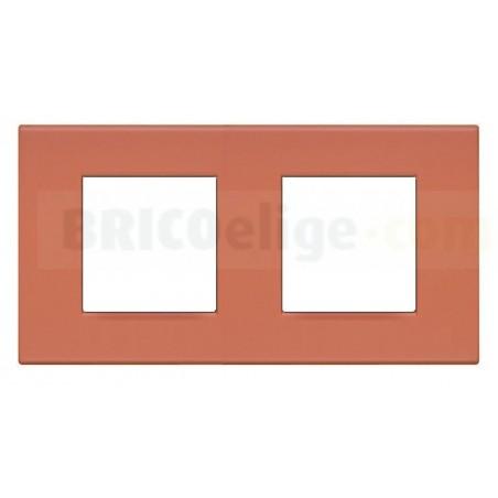 Placa Light Rojo Tierra 2+2 módulos N4802/2RE