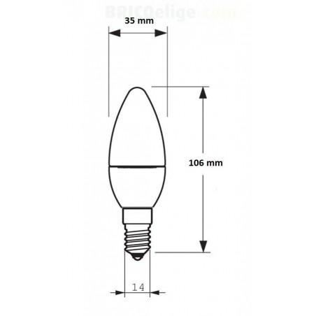 Bombillas de Led 230V. Tipo Vela 4,5 W