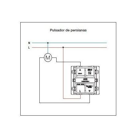 Doble Pulsador para Persianas N2244 Módulo ancho Niessen Zenit