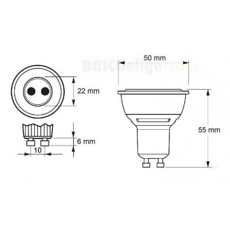 Bombilla LED CorePro LEDspotMV 6,5W GU10 498231