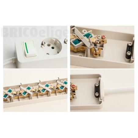 Base Múltiple 5 tomas 16A Sin Cable ref.2505
