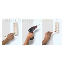Base Múltiple 4 tomas 16A Sin Cable Con Interruptor ref.2528