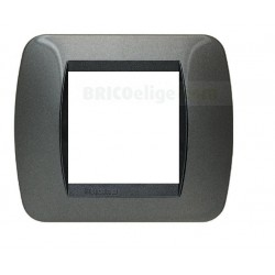 Placa Living Internacional Acero Oscuro 2 Módulos L4802AC