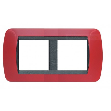 Placa Living Internacional Rojo Sólido 2+2 Módulos L4802/2RD
