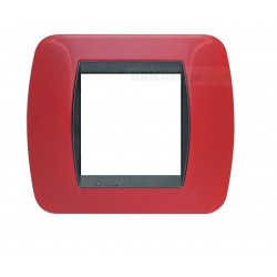 Placa Living Internacional Rojo Sólido 2 Módulos L4802RD