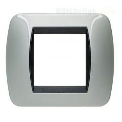 Placa 2 Módulos Aluminio L4802AL Living Internacional