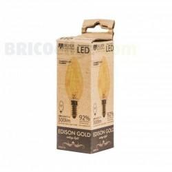 Bombilla Led Vintage Edison Gold Vela 3W 450314